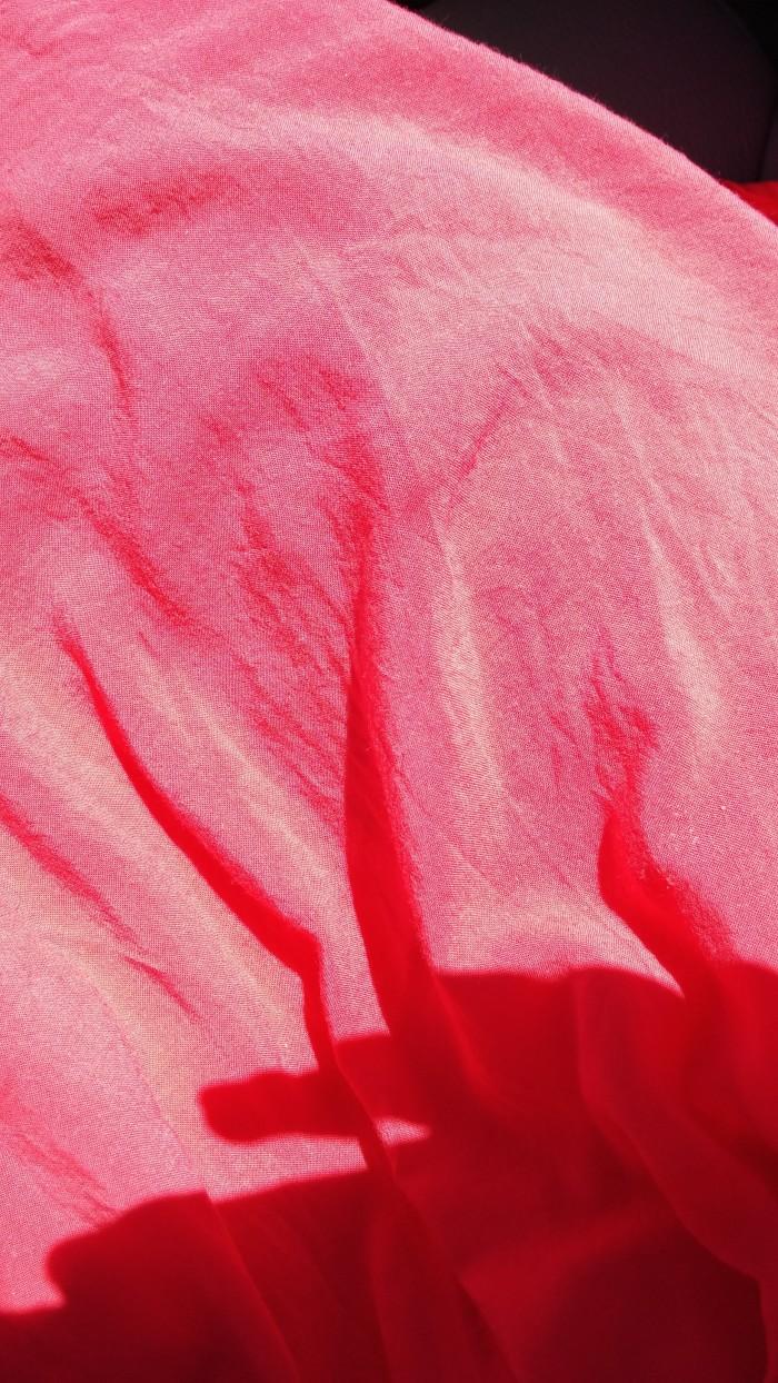 Burst of color on my favorite summer dress.